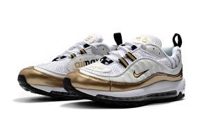 nike drops muted air max 98 gold white